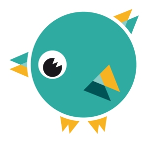 Word Bird character_teal
