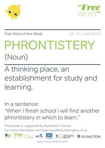 PHRONTISTERY